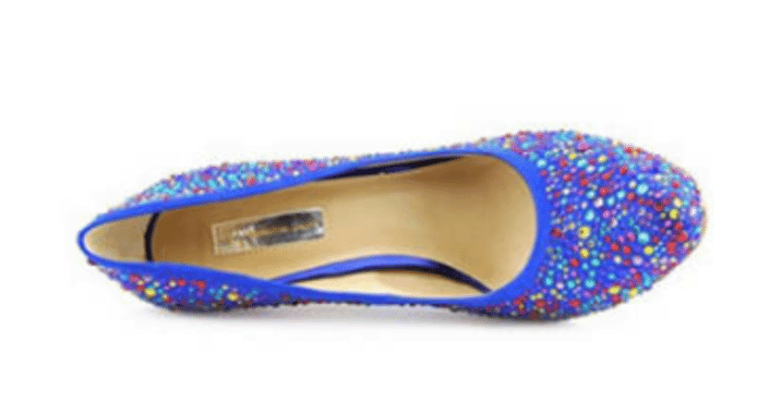 INC International Concept Lilly Blue Textile Heel Pumps